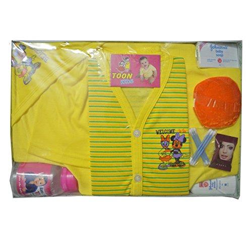 Mysilk Saree Women s Pure Cotton New Born Baby Gift Set (Pack of 7 ... c128af77c
