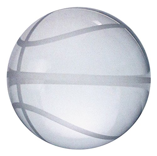 Award Paperweight - Amlong Crystal Crystal Basketball Paperweight 3.5