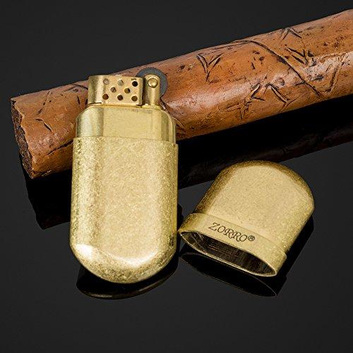 ZORRO Mini Antique Style Pure Copper Metal Oil Petrol Cigarette Lighter - Style Lighter Cigarette