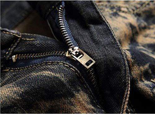 De La Hombres Marea Vendimia La Ropa De Agujero Bordado Gelb Deportes Juventud Rasguños Jeans Rectos Los Que Los De ADELINA La De Estilo Algodón Adorna gtpXqAI