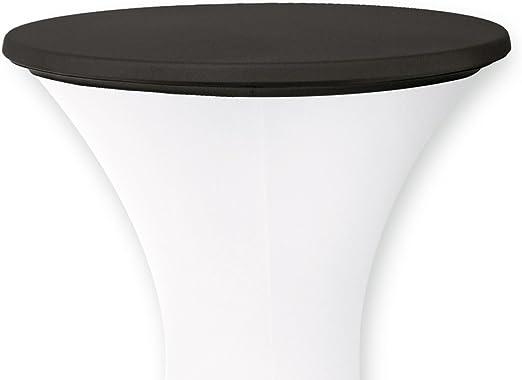 Tischplattenbezug Deckel weiß für 70-80cm Stehtisch Stretch Table Topper