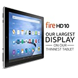 Certified Refurbished Fire HD 10 Tablet, 10.1 HD Display, Wi-Fi, 16 GB - Includes Special Offers, White (Previous Generation - 5th)