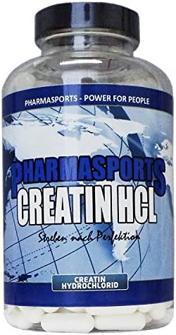 Creatin HCL - 240 Kapseln - hochdosiert - reines Hydrochlorid-Creatine