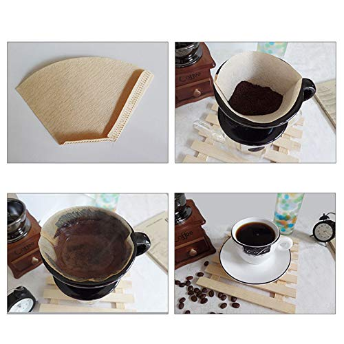 Amazon.com: Coffee Filters - 100x Coffee Paper Filter Hand ...