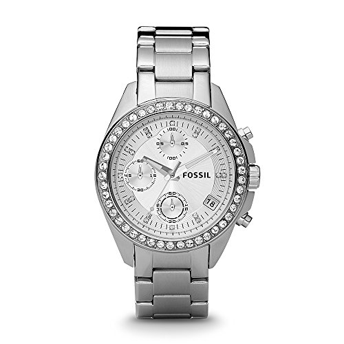 - Fossil Women's ES2681 Decker Silver-Tone Stainless Steel Watch with Link Bracelet