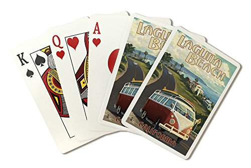 Laguna Beach, California - Camper Van Cruise (Playing Card Deck - 52 Card Poker Size with Jokers)