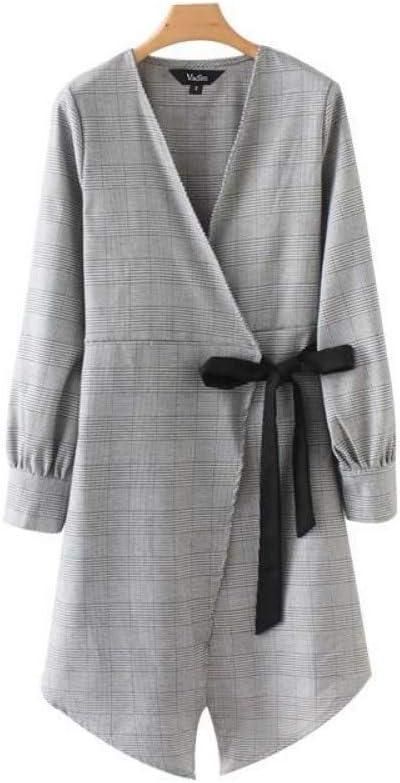 OYHDWQF Monos Las Mujeres envuelven a Cuadros Vestido del Kimono ...