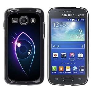 Carcasa Funda Prima Delgada SLIM Casa Case Bandera Cover Shell para Samsung Galaxy Ace 3 GT-S7270 GT-S7275 GT-S7272 / Business Style Neon eye
