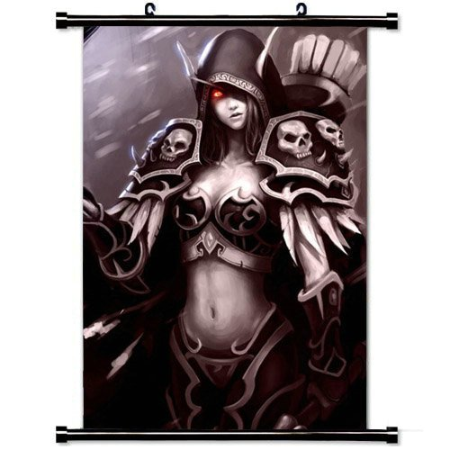 (Gaming Wall Posters,World Of Warcraft Blood Elf Bird Hand Female Home Decor Wall Scroll Poster Fabric Painting 23.6 X 35.4 Inch (60cm X 90 cm))
