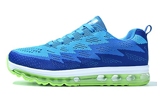 No Town Air Light Flyknit Blue Cushion Sole Shoes Running Couple 66 Sneakers Full Men fAxwH5qfr