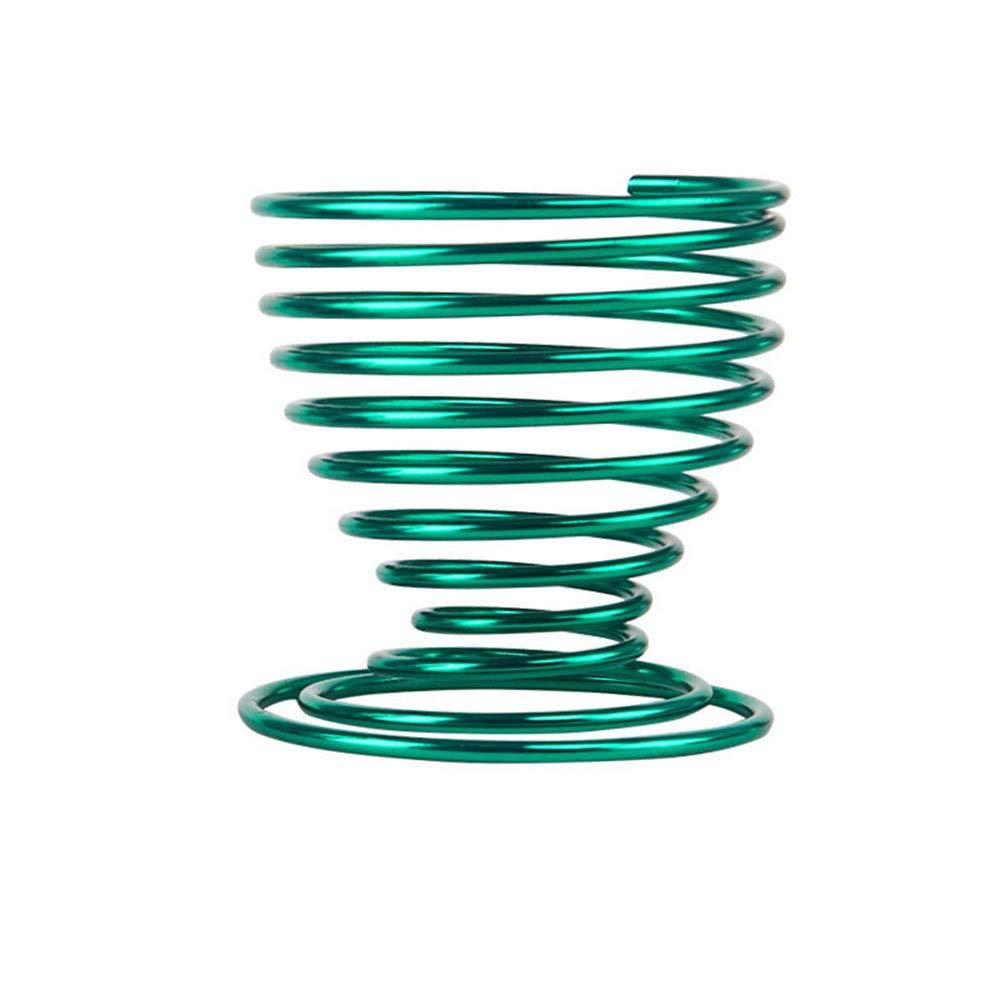 OMIGAI Soporte para maquillaje, soporte de almacenamiento en espiral con forma de espiral de metal para la belleza
