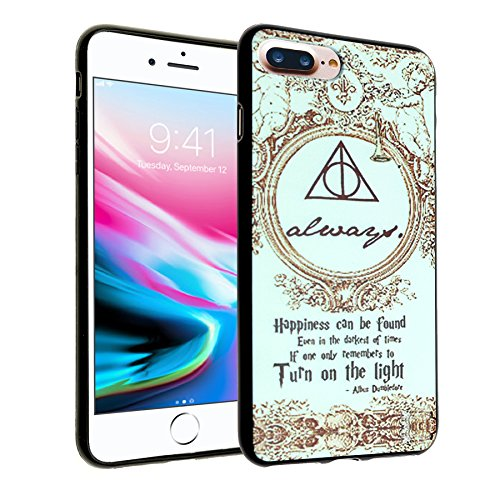 (iPhone 8 Plus Case, DURARMOR FlexArmor Harry Potter Hogwarts Deathly Hallows Map Flexible Bumper ScratchSafe TPU Ultra Thin Case Drop Protection Cover for iPhone 8 Plus Deathly)