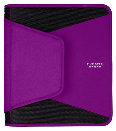 Five Star 1-1/2 Inch Zipper Binder, Durable, Purple (72532)
