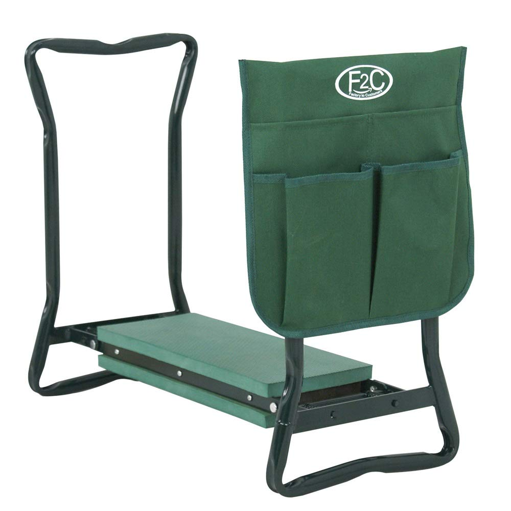 Good Concept Garden Kneeler Seat Bench Stool Foldable Soft Cushion w Tool Pouch by Good Concept (Image #2)
