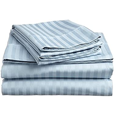 BELLA KLINE BEDDING COLLECTION 100% brushed microfiber 1800 series 4 piece bed sheet set with matching pillowcases, HYPOALLERGENIC, #1 soft and silky luxurious feel, fitted and flat sheets, deep pockets, LIFETIME SATISFACTION GAURANTEED – KING Size, LIGHT BLUE