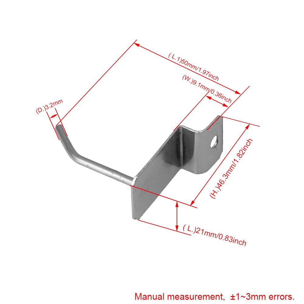 Mxfans 25x Slatwall Single Hook Pin Display Fitting Prong Hanger Shop 5cm Hook
