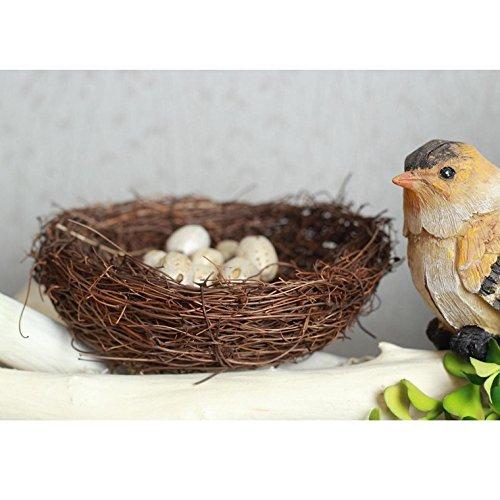 Cestas nidos de p/ájaro Mignons corbeille nido de P/âque decoraci/ón para caramelos de huevos de Pascua 3pcs