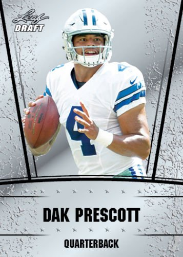 DAK PRESCOTT 2016 DRAFT SILVER EDITION ROOKIE CARD #2! DALLAS COWBOYS! W/H TOP LOADER!