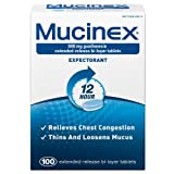 Mucinex Mucinex Extended-Release Bi-Layer, 100 tabs 600 mg(Pack of 2)