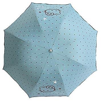 Kitty Sunny Paraguas Negro Pegamento Protector Solar 30% Gato Cabeza De Lotus Hoja De Loto