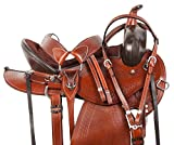 "AceRugs 15"" 16"" 17"" Comfy CUSH DEEP Memory Foam SEAT Western Leather Trail Endurance Horse Saddle TACK Set Included"