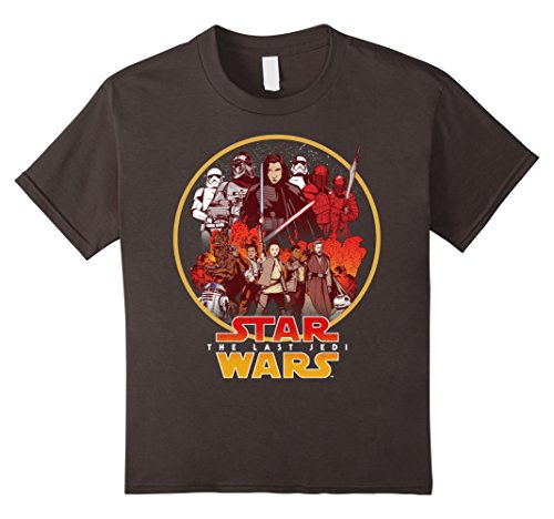 Kids Star Wars Last Jedi Rebel Cause Comic Graphic T-Shirt 6 Asphalt - Cause Rebel T-shirt