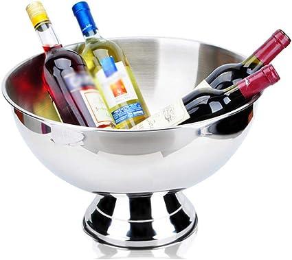 en Acier Inoxydable Seau /À Glace en Acier Inoxydable Boissons Cooler Grand Seau /À Glace Bar Durable Champagne Vin Cuisine