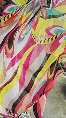 95e642a3a5 Bestyou Women s Print Turkish Kaftans Chiffon Caftan Loungewear Beachwear  Bikini Swimsuit Cover Up Dress
