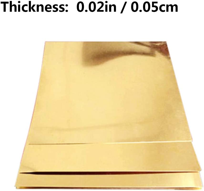 Plates 300 x 300mm//11.8 x 11.8 inch,0.8mm Tapes MHUI Copper Sheet Metal Brass Cu Metal Sheet Foil Plate Can be Made Into Tubes Rods Wires