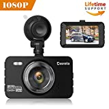 Dash Cam Davola 1080P Full HD Dash Camera for Cars with 3'' LCD Screen 140 Degrees Wide Angle Lens Loop Recording G-Sensor Parking Monitor Motion Detection Night Vision