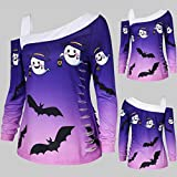 Women's Halloween Off Shoulder Sweatshirt Bats