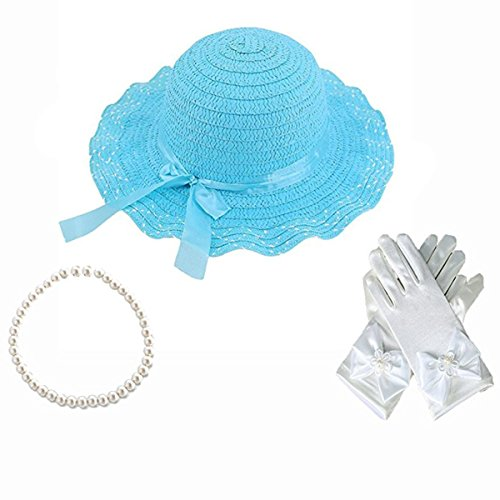 GILAND Girls Tea Party Dress Up Roleplay Play Set (Blue) -