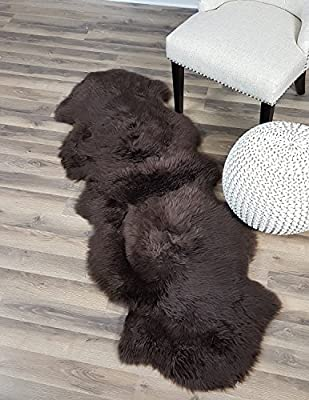 Genuine Australian Sheepskin Rug Two Pelt Fur, Double