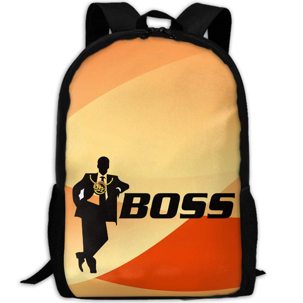 OIlXKV Funny Like A Boss Print Custom Casual School Bag Backpack Multipurpose Travel Daypack For Adult