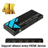 HDMI Splitter 1x4, 4 HDMI Splitter for PS4/Laptop/HDTV/Xbox, up to Full HD, 4Kx2K(3840x2160)&3D Resolution