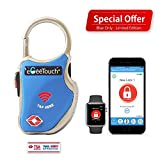 eGeeTouch Smart TSA Travel Lock - Secure & Track your Luggage anywhere you go (Blue)