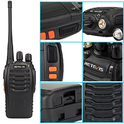 Retevis H-777 Two Way Radios UHF Radio 2 Way Radios Fast and Safe USB Rechargeable 16CH Radio Walkie Talkies (10 Pack) by Retevis (Image #8)