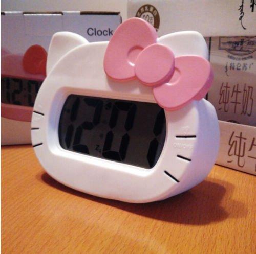 Hello Kitty Alarm Clock Screen LED Silent Digital