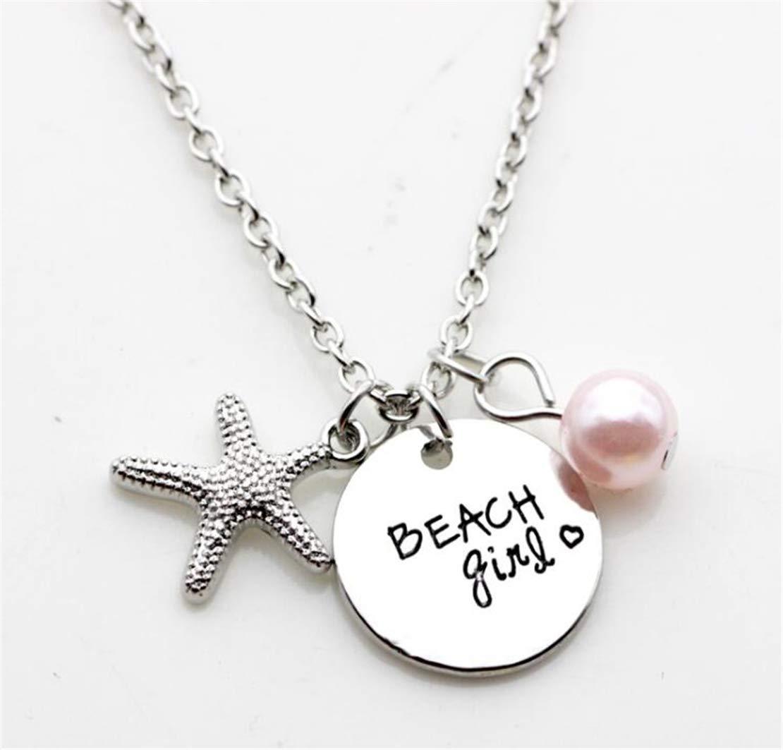 Tmrow 1pc Beach Girl Jewelry Necklace Sea Birthstone Necklaces Girls Jewelry
