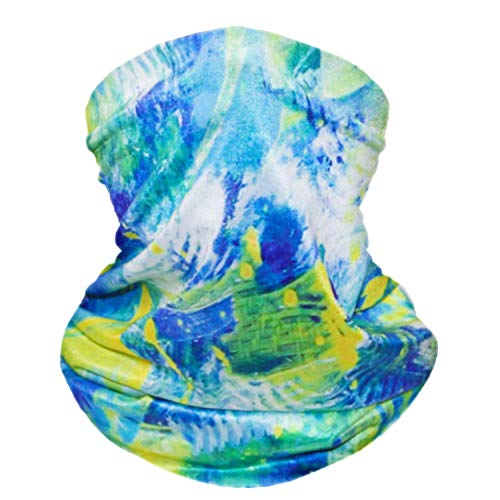 Bestier Neck Gaiter Face Scraf Mask - UV Cooling Fack Mask Breathable Bandana Dust Proof Sun Protection Cover Balaclava Scarf Shield (Rainforest)