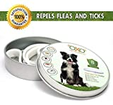 OXO PET PRODUCTS Tick and Flea Collar For Dogs. Natural Repellent With Essential Oils.