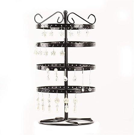 Présentoir Pour 144 trous Boucle d/'Oreille Affichage Noir Porte bijoux Support