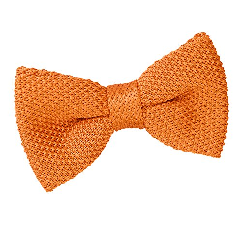 Men Casual Pre Knitted Tie Tangerine Bow DQT Tied Knit Plain 6wqZIOxRd