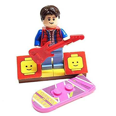 MinifigurePacks: Lego Back to the Future Bundle (1) Marty McFly Minifigure - Cuusoo Variant (1) Figure Display Base (2) Figure Accessory's (Hover Board - Electric (The Beatles Lego)