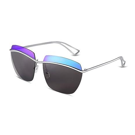 NYKKOLA mujeres de sol polarizadas sin montura soporte de lente metal Aviator Gafas de sol UV400