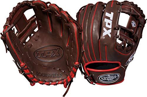 Louisville Slugger 2018 Tpx Infield Baseball Glove - Right Hand Throw Dark Brown/White/Red, ()