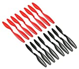 RAYCorp 1045 10x4.5 Propellers. 16 Pieces(8 CW, 8 CCW) Black & Red 10-inch Quadcopter or F450 Props + 1 battery strap by RAYCorp