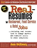 img - for Real-Resumes for Restaurant, Food Service & Hotel Jobs book / textbook / text book