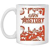 Houston Baseball Throwback Vintage Astro #EarnHistory 2 - Perfect Present For Fan,Husband,Wife - Gift For Men,Women, Family, Friends, Him, Her On Christmas, Thanksgiving - 11 OZ White Coffee Mug