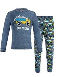 BELLOO Boys Pajamas Cotton Cartoon Sleepwear, Size 2T-7T